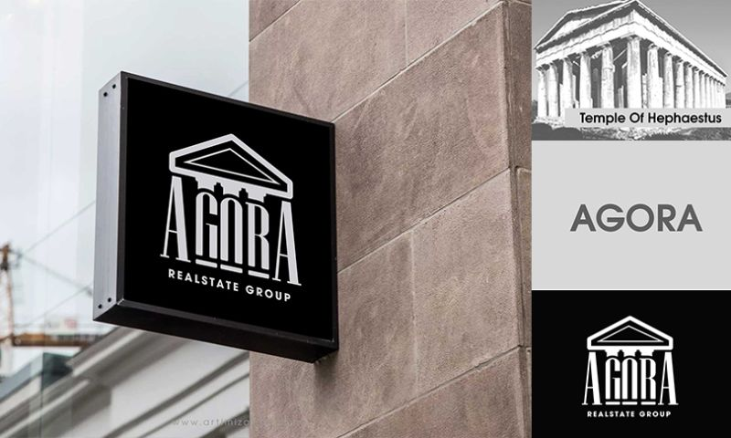 Artimization - Agora realestate logo design