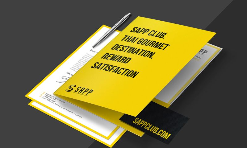Artimization - Sapp Thai restaurant Branding Design