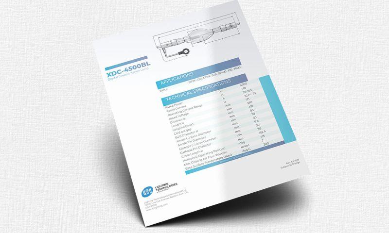 FRW Studios - Data Sheet Design