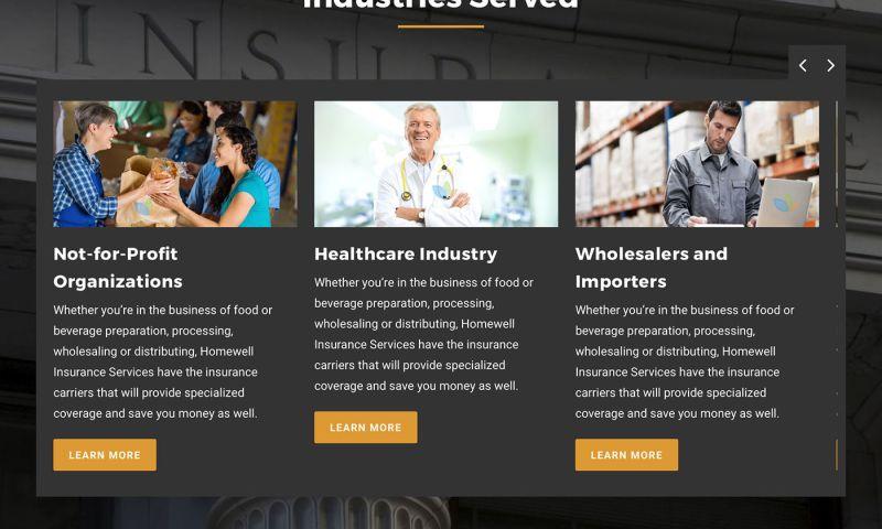 FRW Studios - Homewell Insurance Website