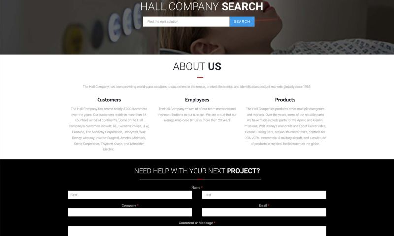 FRW Studios - The Hall Company Website Design