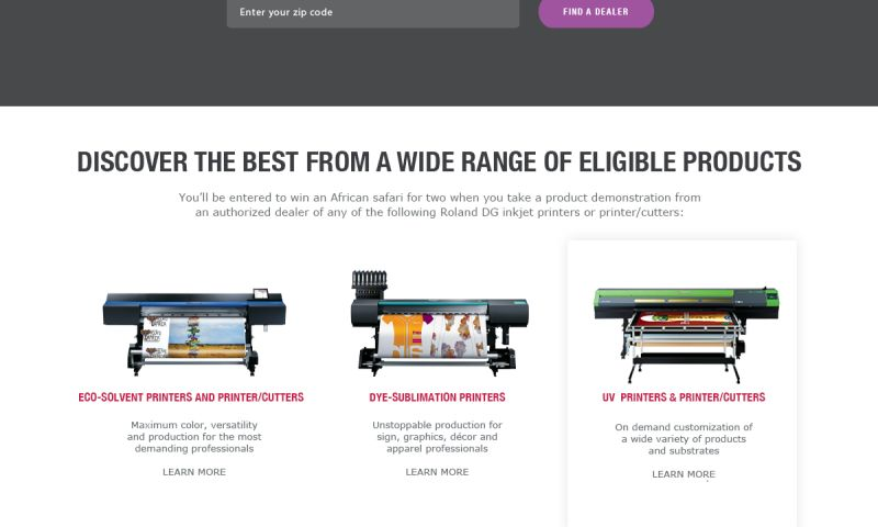FRW Studios - Discover Roland Landing Page