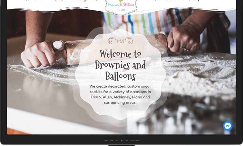 Mr. Website Designer - Brownies and Balloons