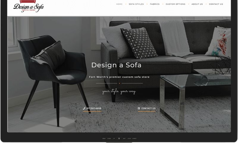 Mr. Website Designer - Design a Sofa