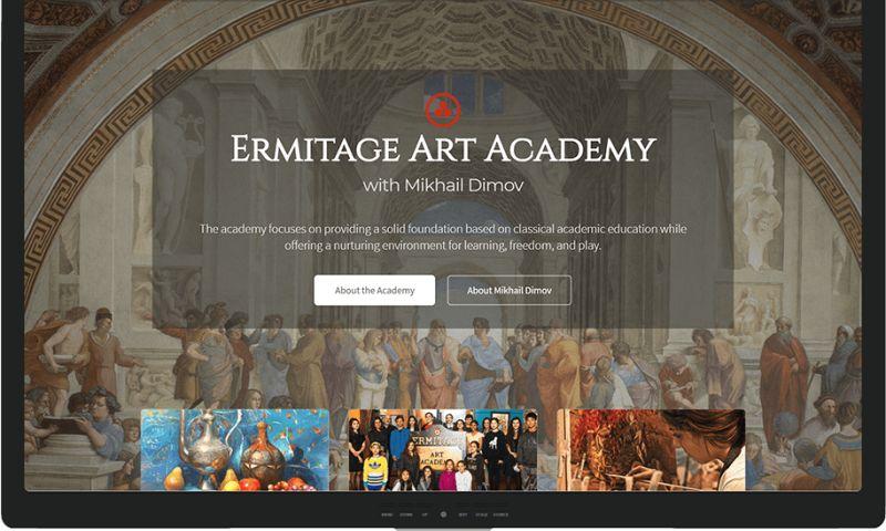 Mr. Website Designer - Ermitage Art Academy