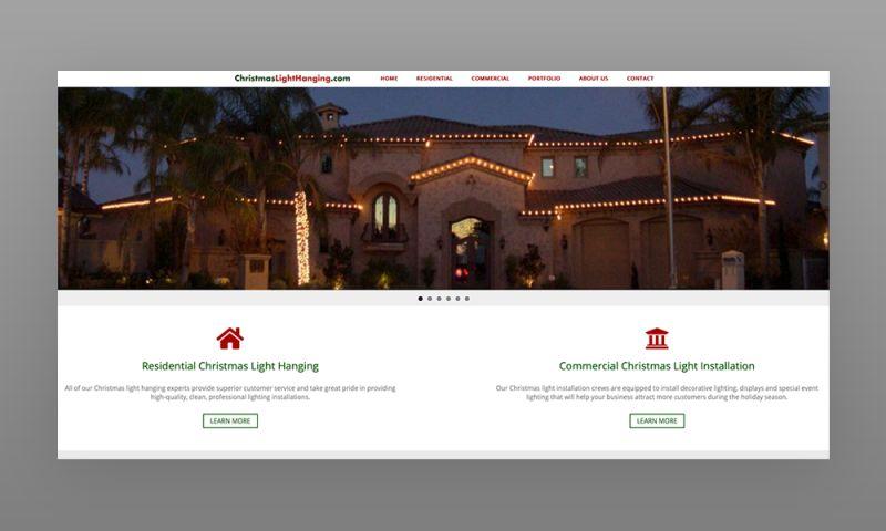 Marcher Internet Marketing - ChristmasLightHanging.com Web Design