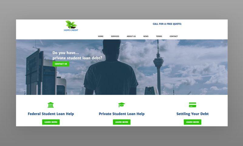 Marcher Internet Marketing - HopeCredit.net Web Design