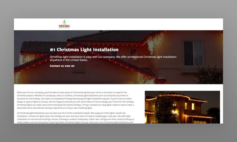 Marcher Internet Marketing - ChristmasLightInstallations.com Web Design