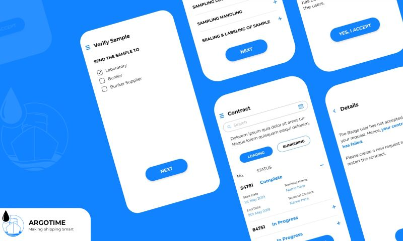 Codezeros - Argotime — Blockchain-based application for the shipment system