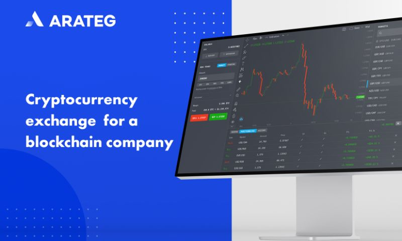 Arateg - Cryptocurrency exchange for a blockchain company