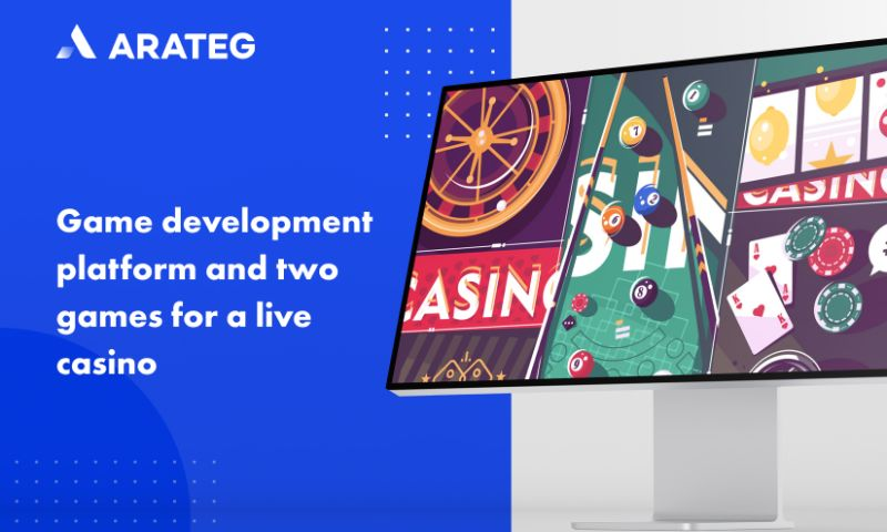 Arateg - Game development platform and two games for a live casino