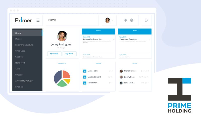 Prime Holding - Primer - PM, HRM & Administration tool