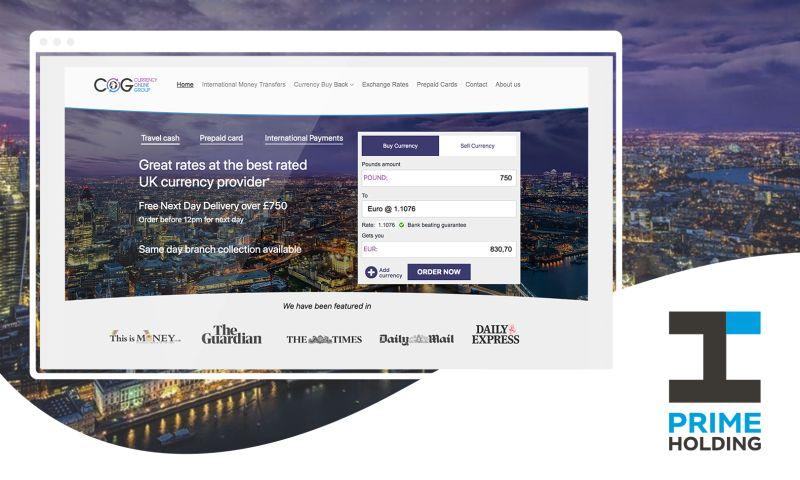 Prime Holding - Currency Exchange Platform