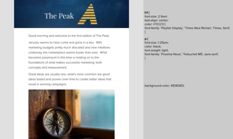 New North - Email Redesign Refreshes Weekly Newsletter