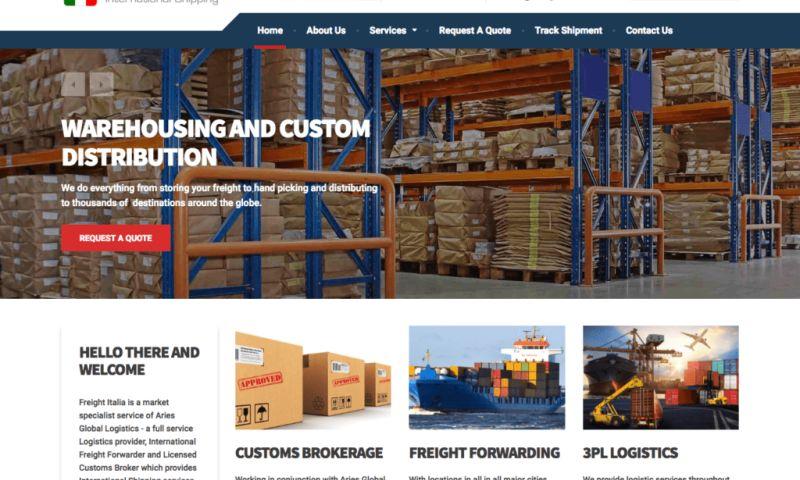 TunedUp Media - Freight Italia Website