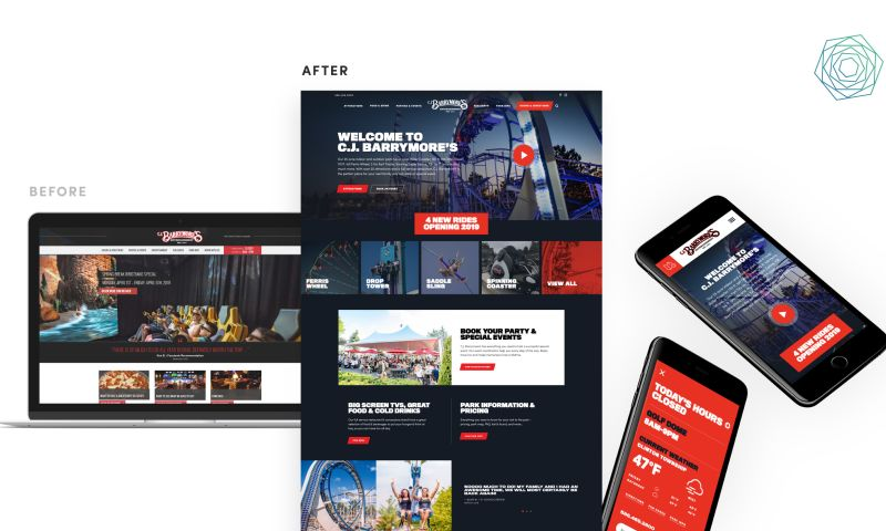 collideascope - Amusement and Family Entertainment Center Website Design and Development