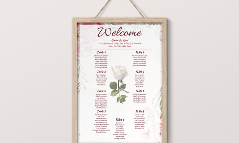 TechUptodate.com.au - Wedding Reception Seating Plan