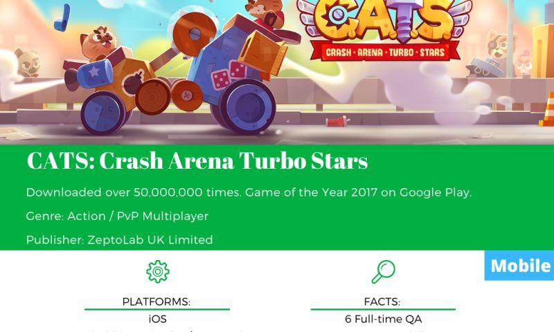 SnoopGame QA - CATS: Crash Arena Turbo Stars