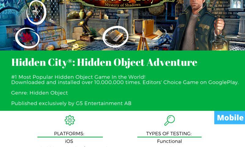 SnoopGame QA - Hidden City®: Hidden Object Adventure