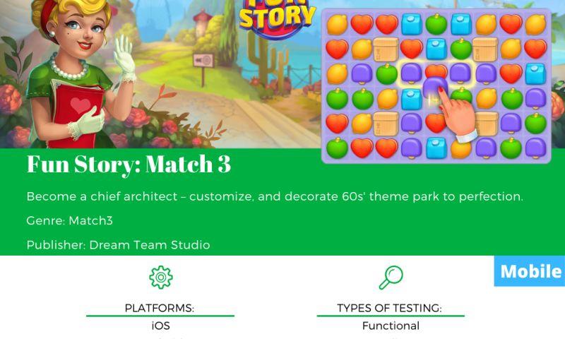 SnoopGame QA - Fun Story: Match 3