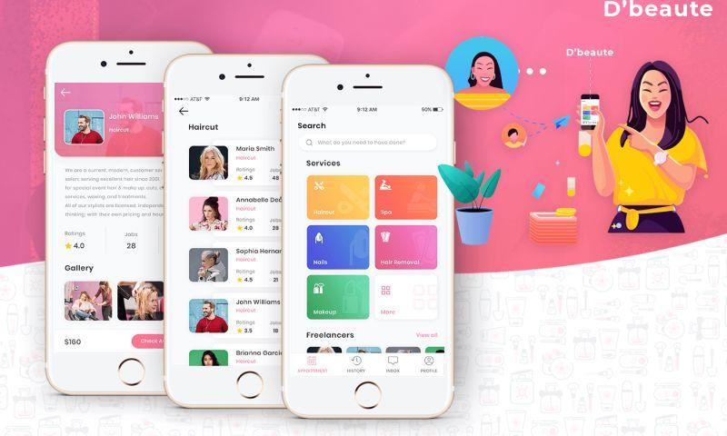 Siddhi Infosoft - D'beaute Beauty Salon Mobile App