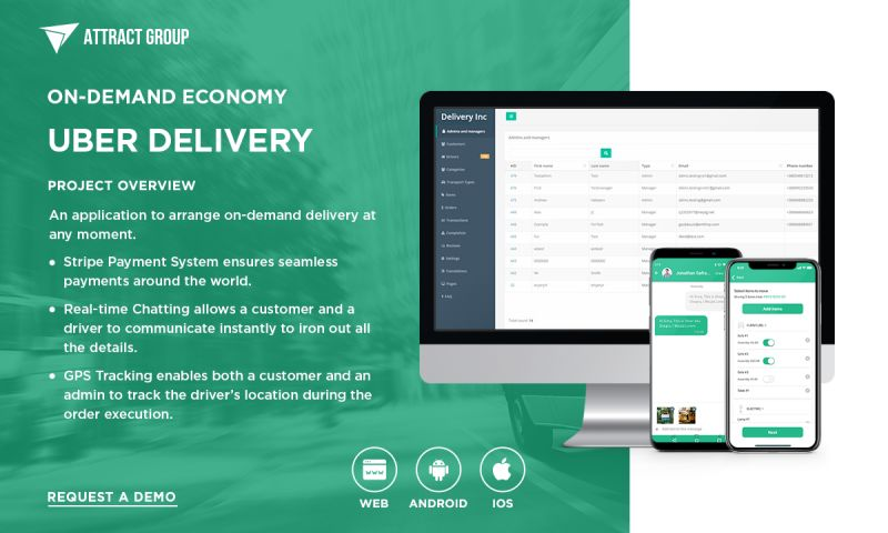 Attract Group - Uber-type Delivery App