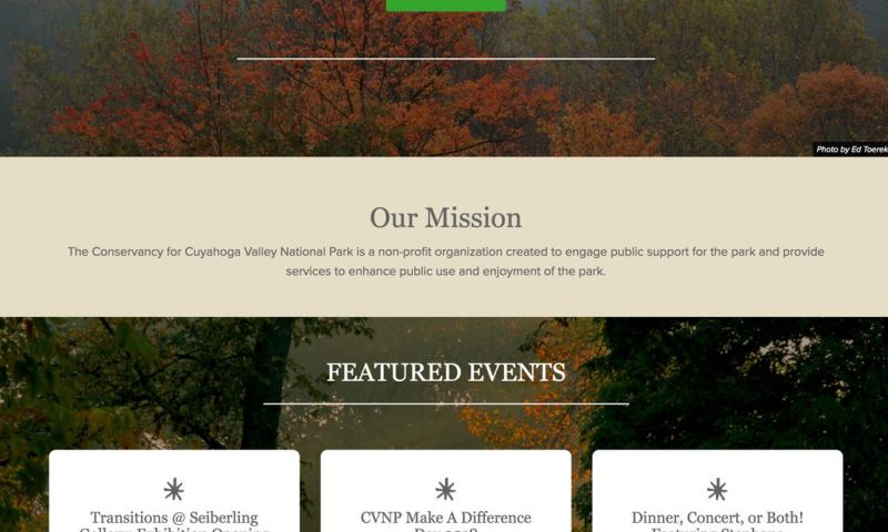 ForeFront Web - Conservancy for Cuyahoga Valley National Park