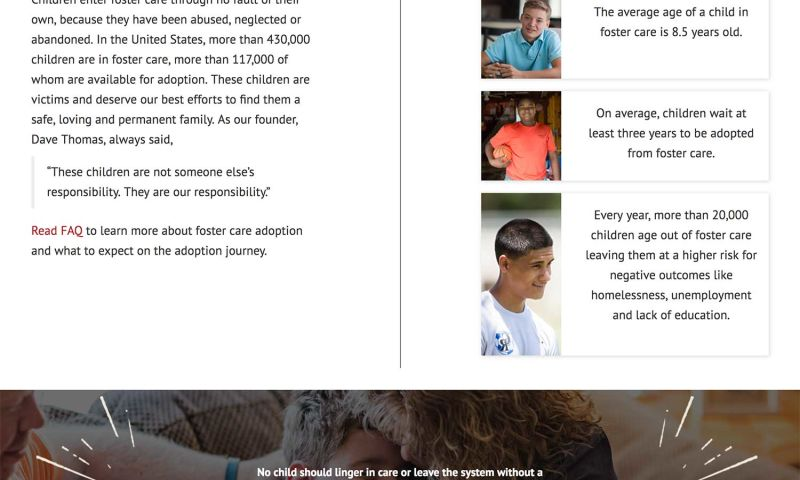 ForeFront Web - The Dave Thomas Foundation