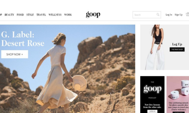 LCloud Ltd. - E-commerce | goop.com