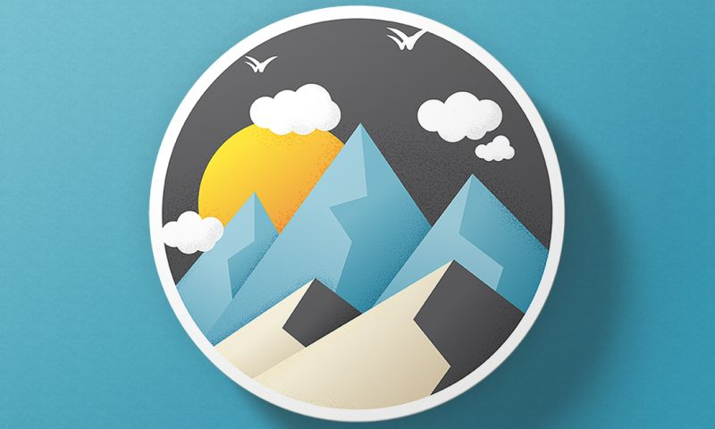 Saeculum Solutions Pvt Ltd - Mountain Illustration