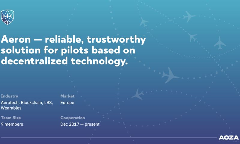 Aoza Tech - Aeron — reliable, trustworthy solution for pilots based on decentralized technology.