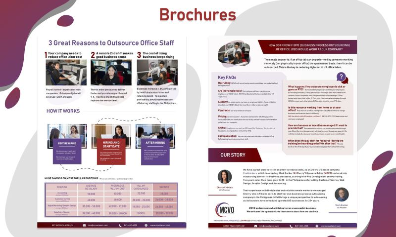 MCVO Talent Resource Services - Brochure Design Projects