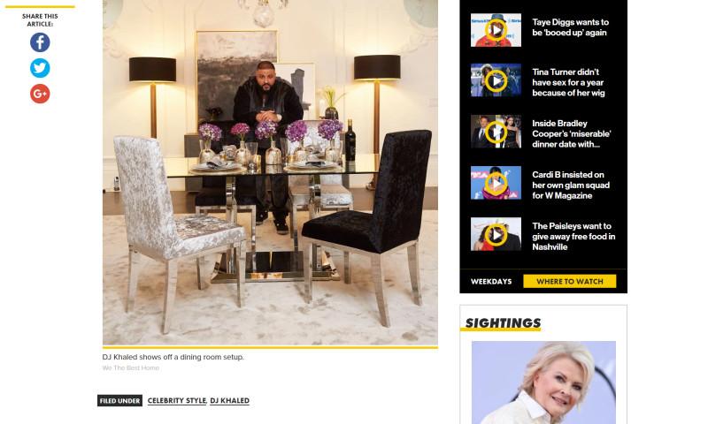 S&G Content Marketing - DJ Khaled Furniture Line Launch PR Campaign