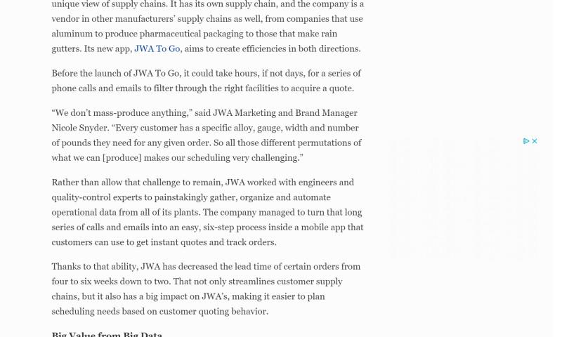 S&G Content Marketing - Content Creation & Distribution Project for Aluminum Manufacturer