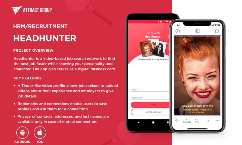 Attract Group - Headhunter - a video-based job search platform