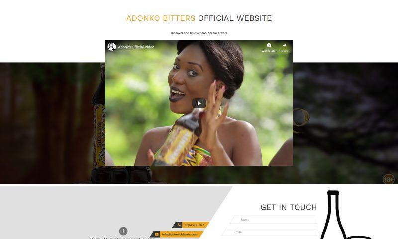 iWade Media - Adonko Bitters Website