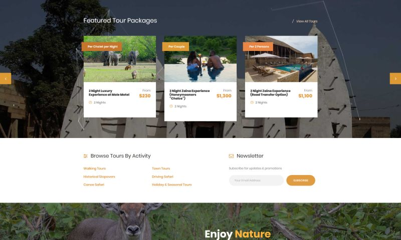 iWade Media - Travel and Tour Website