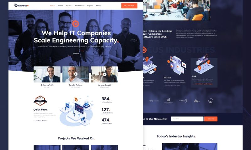 UPQODE - Outsourceo – IT Solutions WordPress