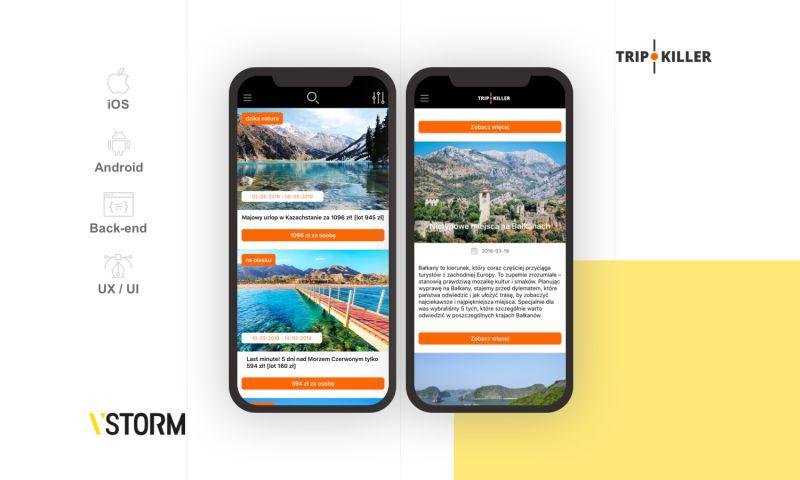 VSTORM - Cross-platform app for travel service
