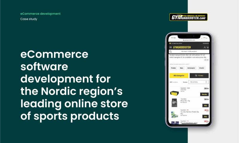Forbytes - E-commerce software development for the Nordic region's leading online store of sports products