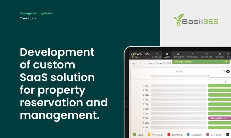 Forbytes - Development of custom SaaS solution for property reservation and management.