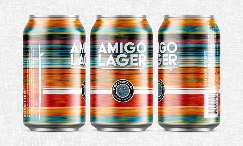 FRW Studios - Amigo Lager Label Design