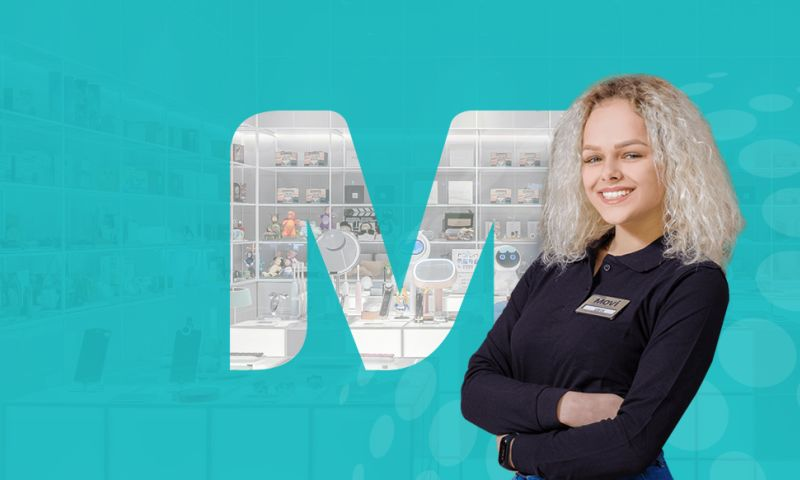 IQUADART - Website for the chain of stores Movi