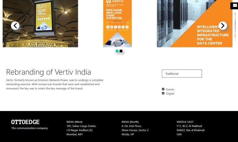 Ottoedge Services LLP - Rebranding of Vertiv India