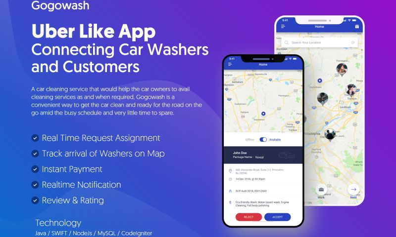 NewAgeSMB - Uber Like App Connecting Car Washers and Customers