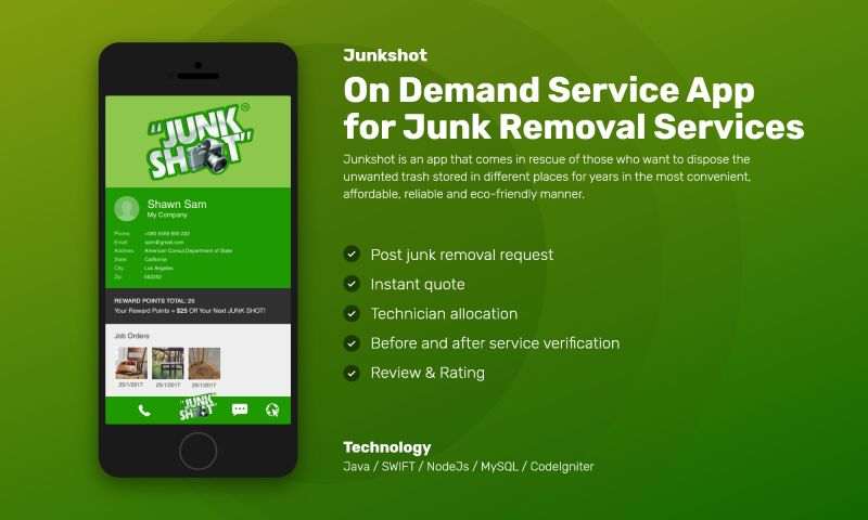 NewAgeSMB - On Demand Service App for Junk Removal Services