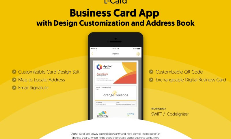 NewAgeSMB - Business Card App with Design Customization and Address Book