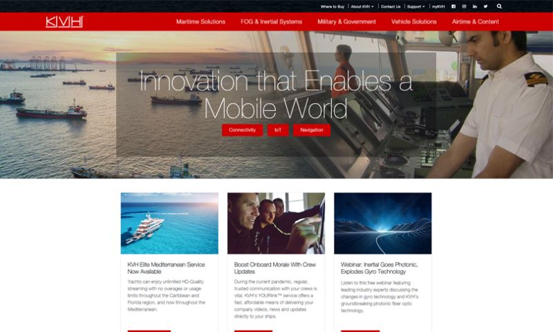 Wakefly, Inc. - KVH Industries Web Redesign
