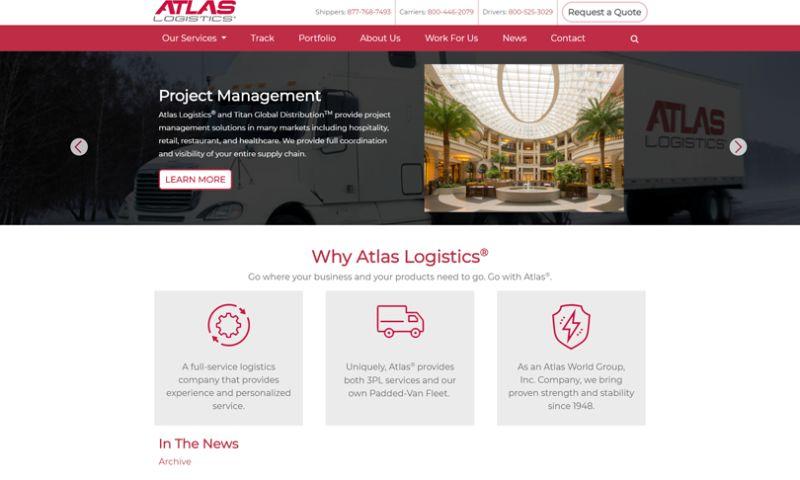 Wakefly, Inc. - Atlas Logistics Web Redesign