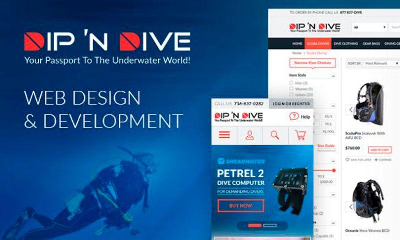 Magecom - Dip'n Dive — Magento Store for a Diving Equipment Retailer